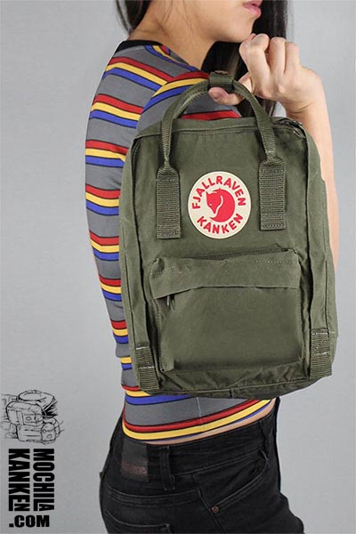 Kanken Mini para chicas color verde